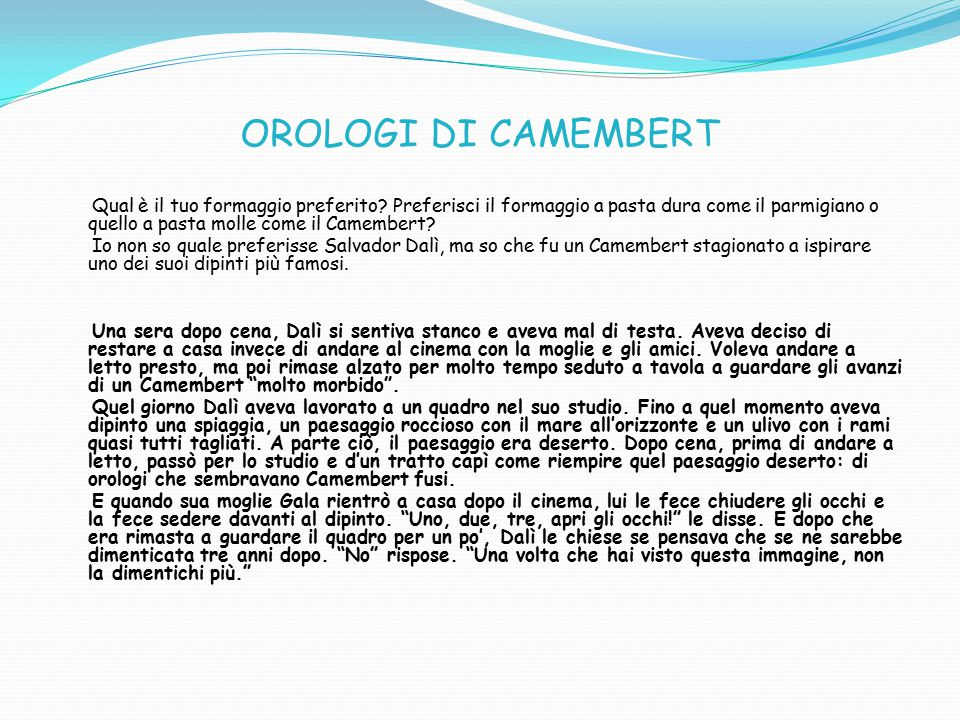 OROLOGI DI CAMEMBERT
