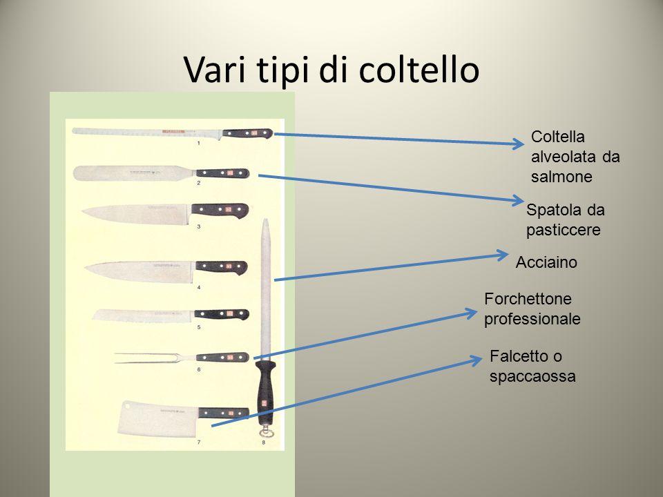 Vari tipi di coltello Coltella alveolata da salmone