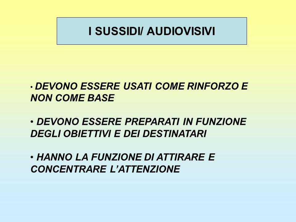 I SUSSIDI/ AUDIOVISIVI