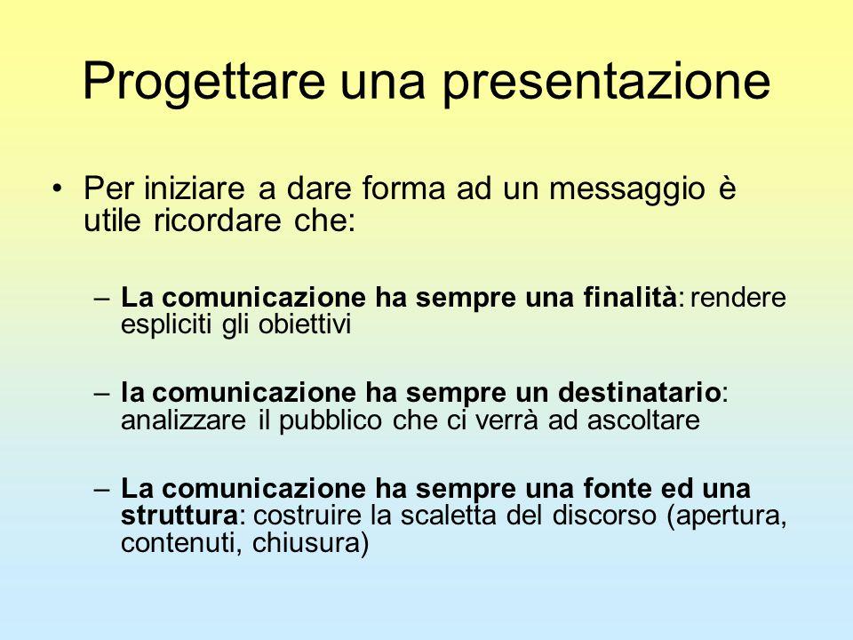 Progettare una presentazione