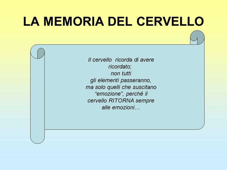 LA MEMORIA DEL CERVELLO