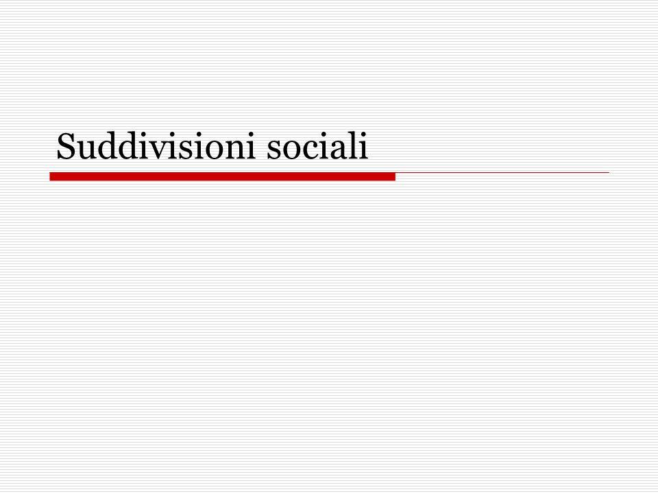 Suddivisioni sociali