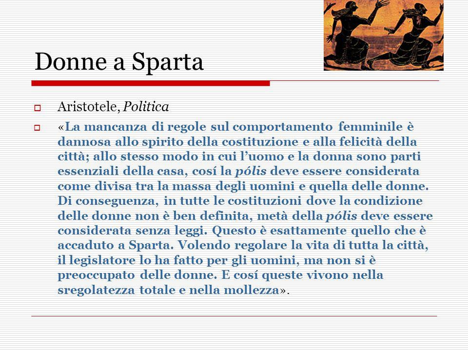 Donne a Sparta Aristotele, Politica