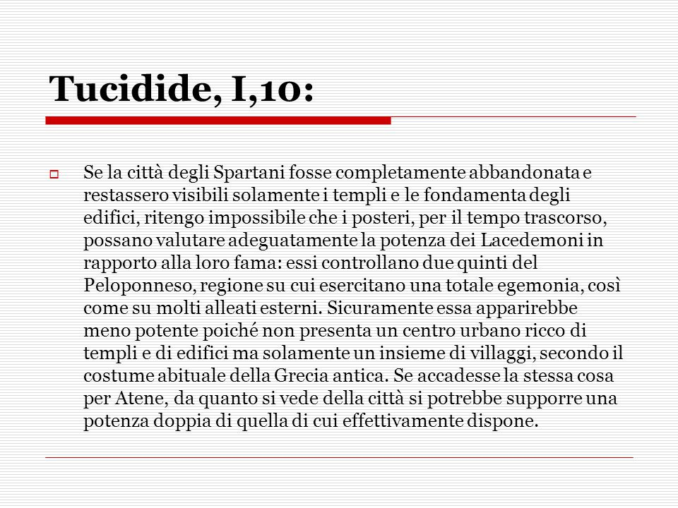 Tucidide, I,10: