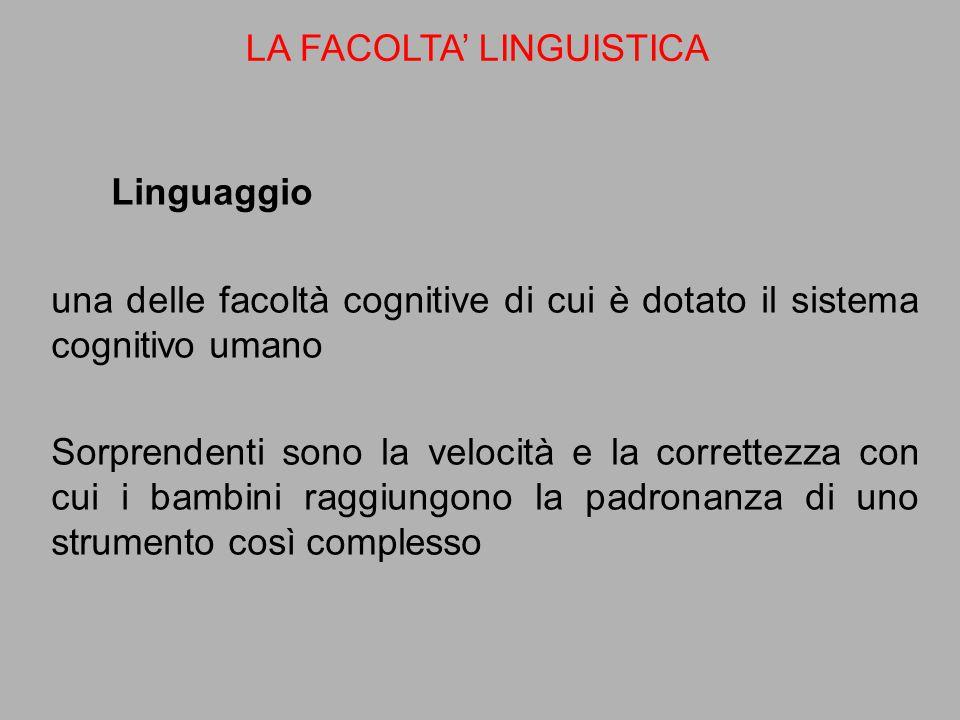 LA FACOLTA' LINGUISTICA