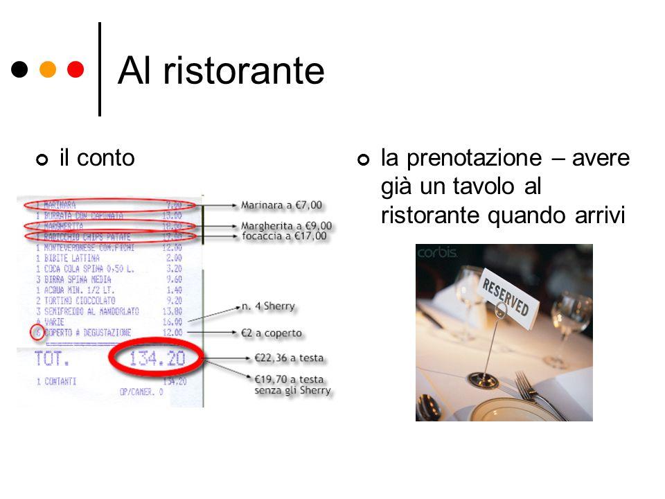 Al ristorante il conto la prenotazione – avere già un tavolo al ristorante quando arrivi