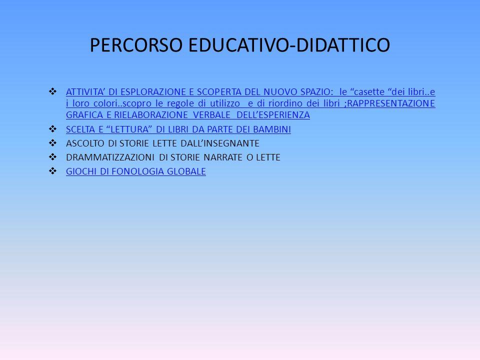 PERCORSO EDUCATIVO-DIDATTICO