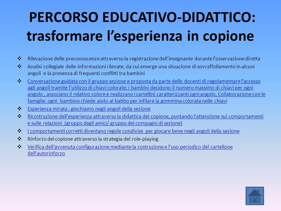 PERCORSO EDUCATIVO-DIDATTICO: trasformare l'esperienza in copione