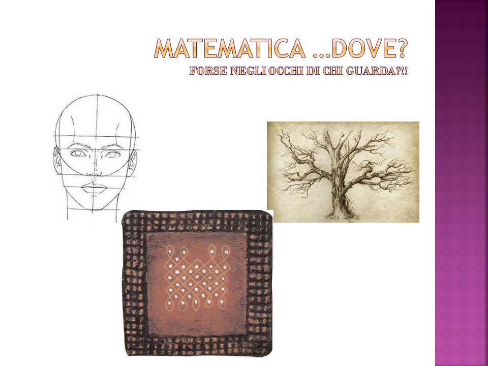 Matematica …dove forse negli occhi di chi guarda !!