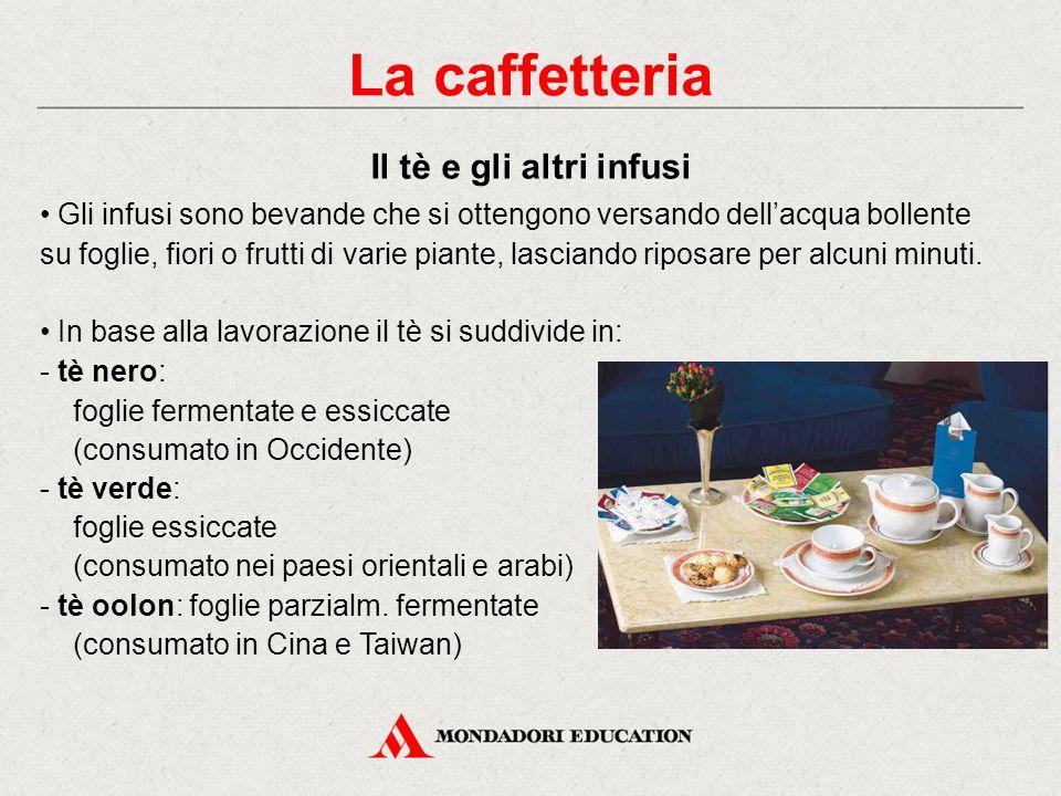 La caffetteria Il tè e gli altri infusi