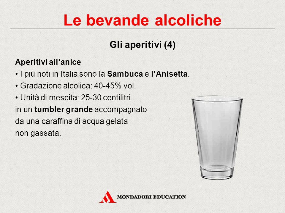 Le bevande alcoliche Gli aperitivi (4) Aperitivi all'anice