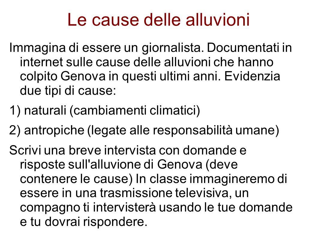 Le cause delle alluvioni