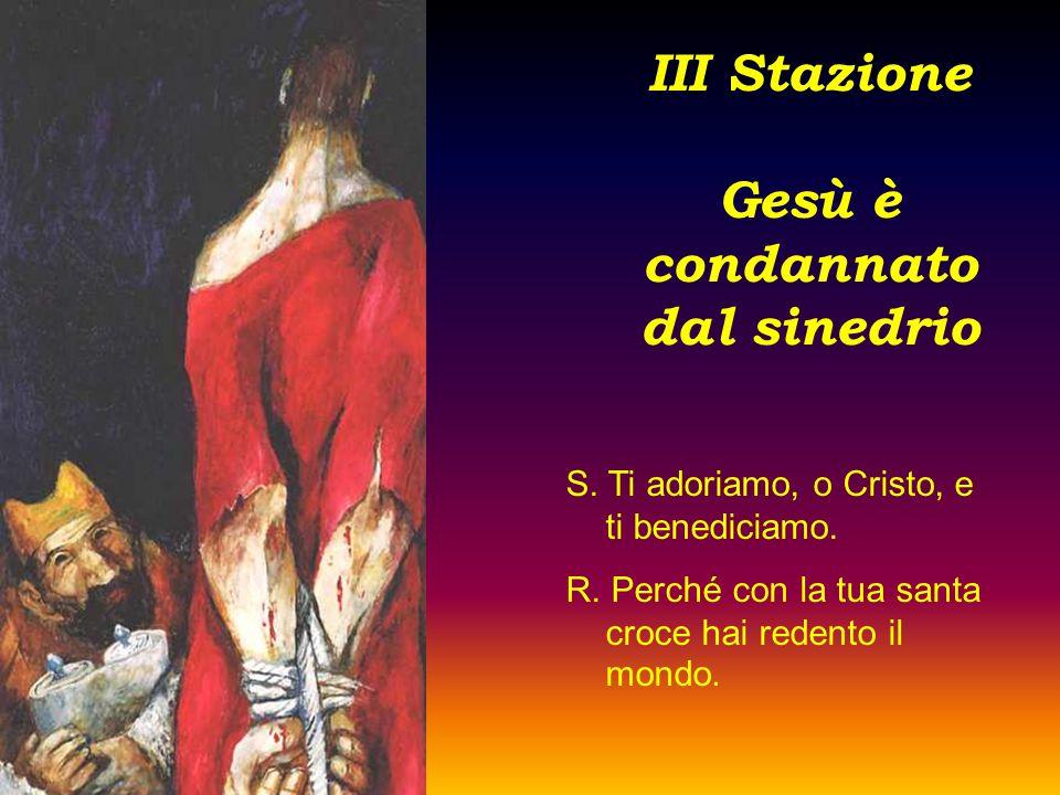 III Stazione Gesù è condannato dal sinedrio