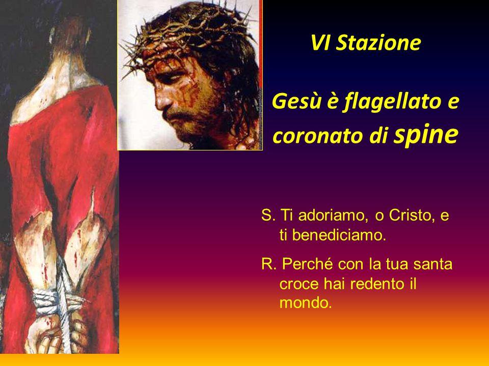 VI Stazione Gesù è flagellato e coronato di spine