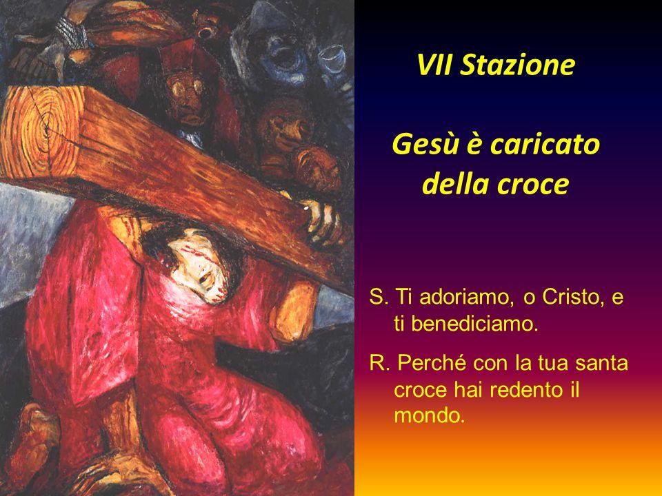 VII Stazione Gesù è caricato della croce