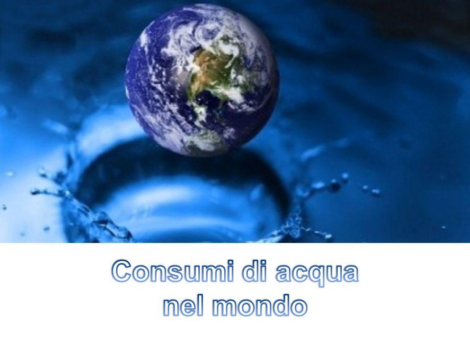Consumi di acqua nel mondo