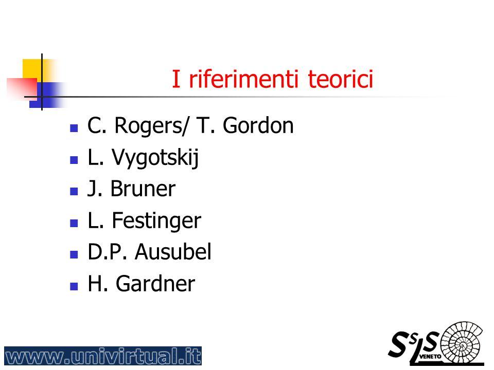 I riferimenti teorici C. Rogers/ T. Gordon L. Vygotskij J. Bruner