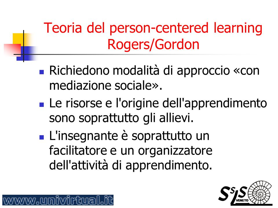 Teoria del person-centered learning Rogers/Gordon