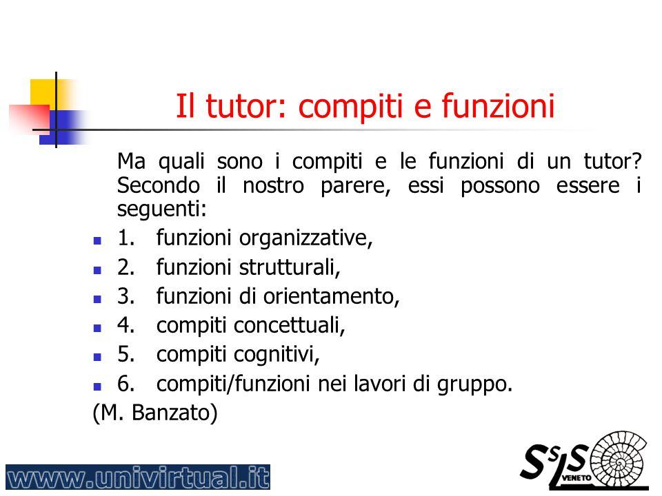 Il tutor: compiti e funzioni
