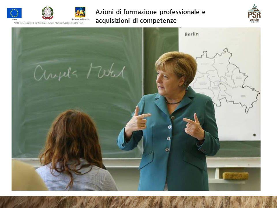 Azioni di formazione professionale e acquisizioni di competenze