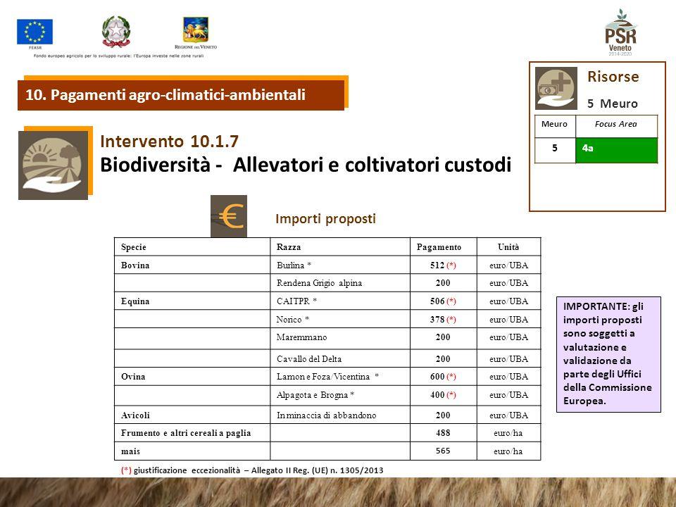 Biodiversità - Allevatori e coltivatori custodi