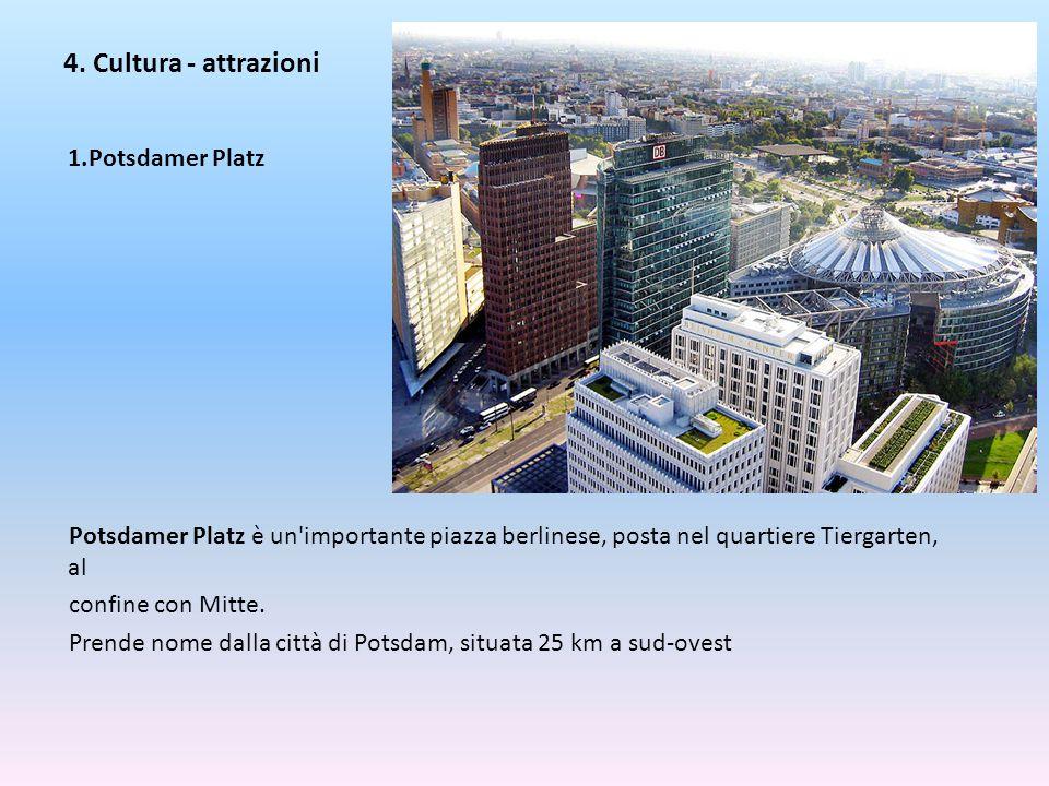 4. Cultura - attrazioni Potsdamer Platz