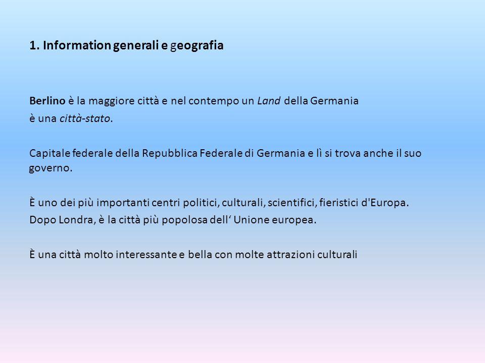 1. Information generali e geografia