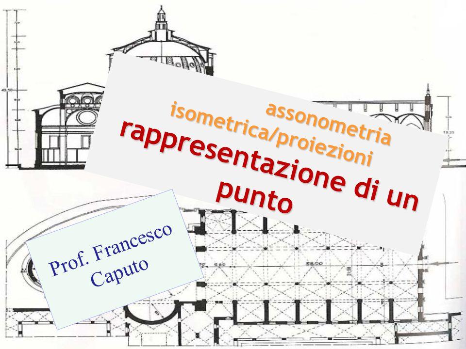 assonometria isometrica/proiezioni rappresentazione di un punto