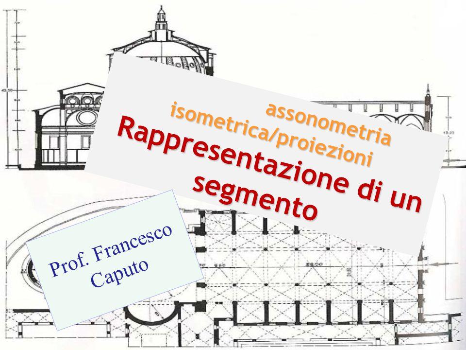 assonometria isometrica/proiezioni Rappresentazione di un segmento