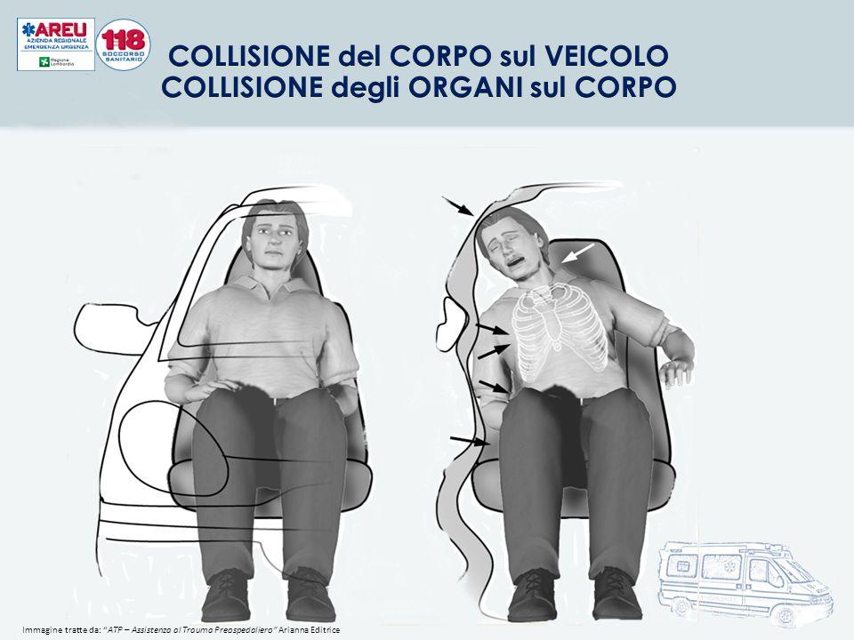 COLLISIONE del CORPO sul VEICOLO COLLISIONE degli ORGANI sul CORPO