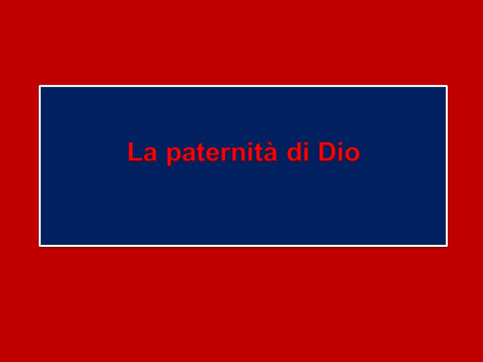 La paternità di Dio