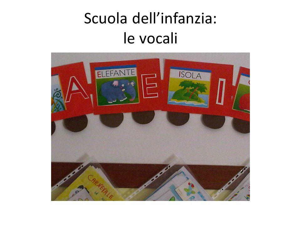 Scuola dell'infanzia: le vocali