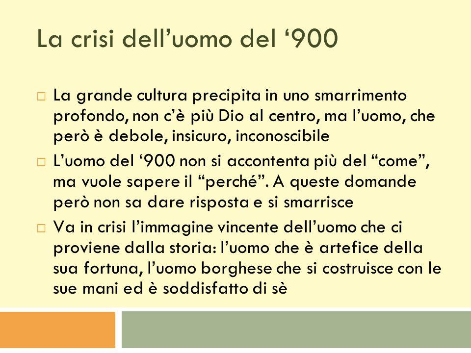 La crisi dell'uomo del '900