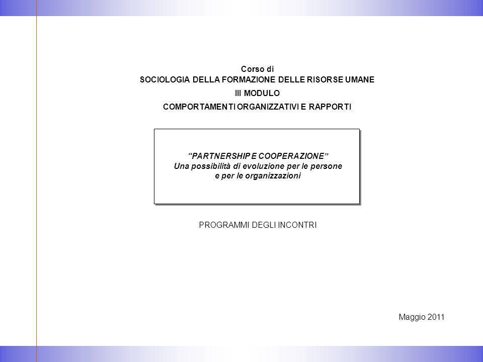 PROGRAMMA TEMPI ATTIVITA'/CONTENUTI 1° INCONTRO - 2 Maggio
