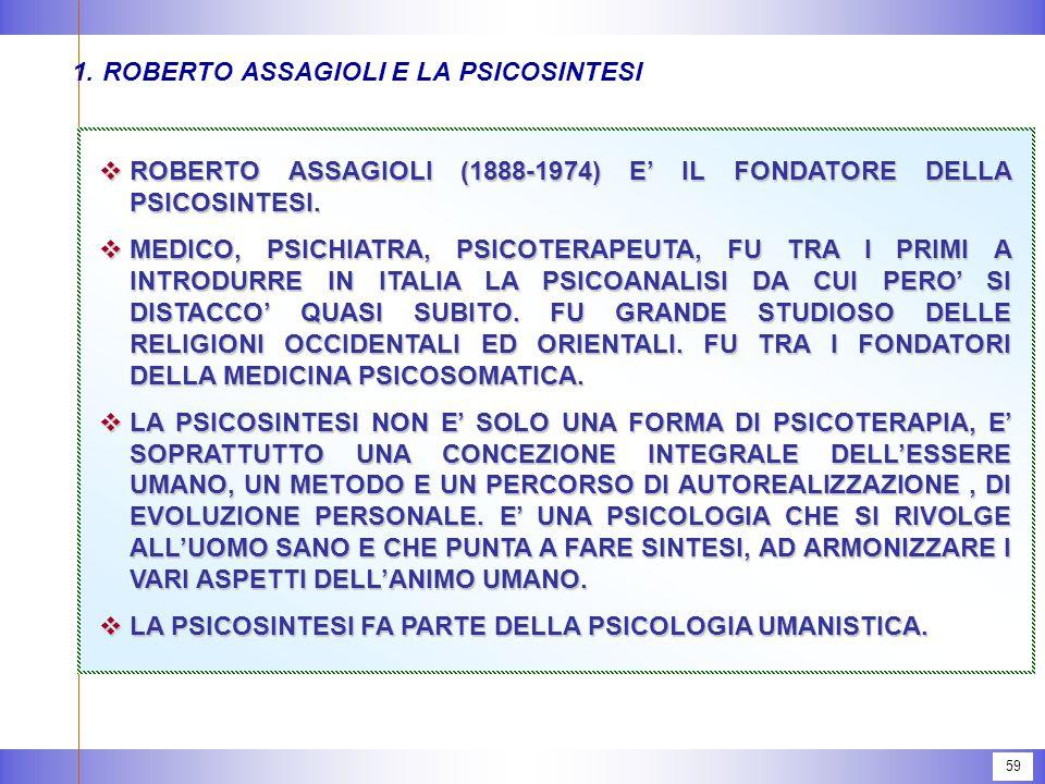 1. ROBERTO ASSAGIOLI E LA PSICOSINTESI