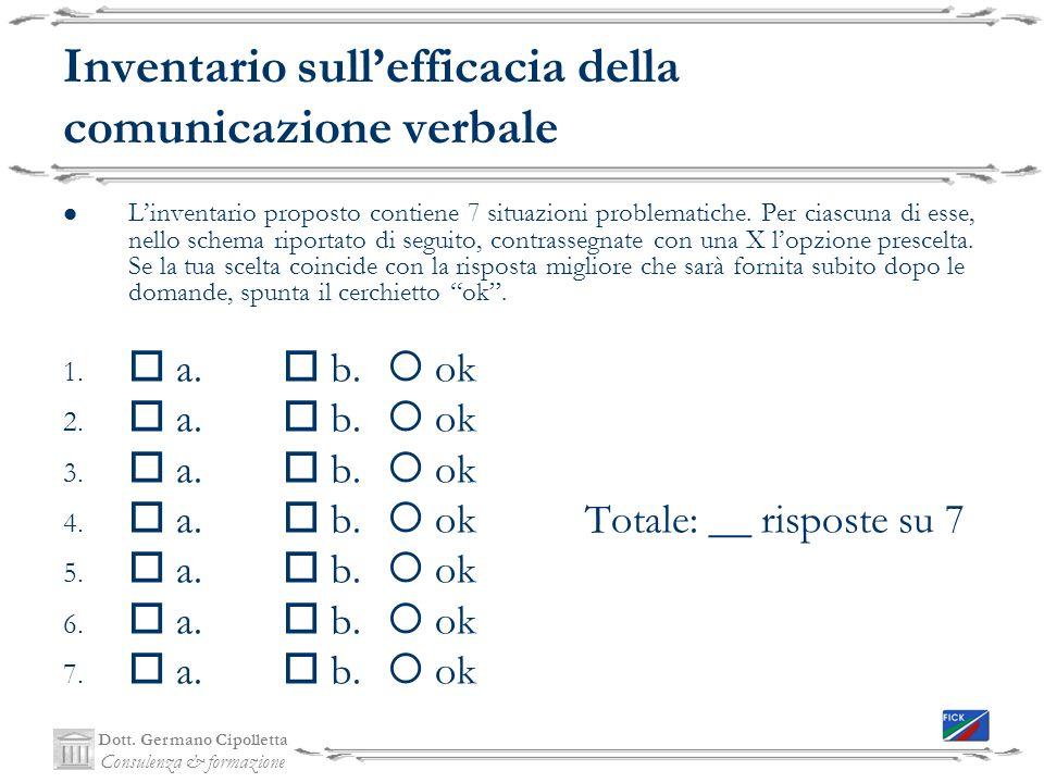 Inventario sull'efficacia della comunicazione verbale