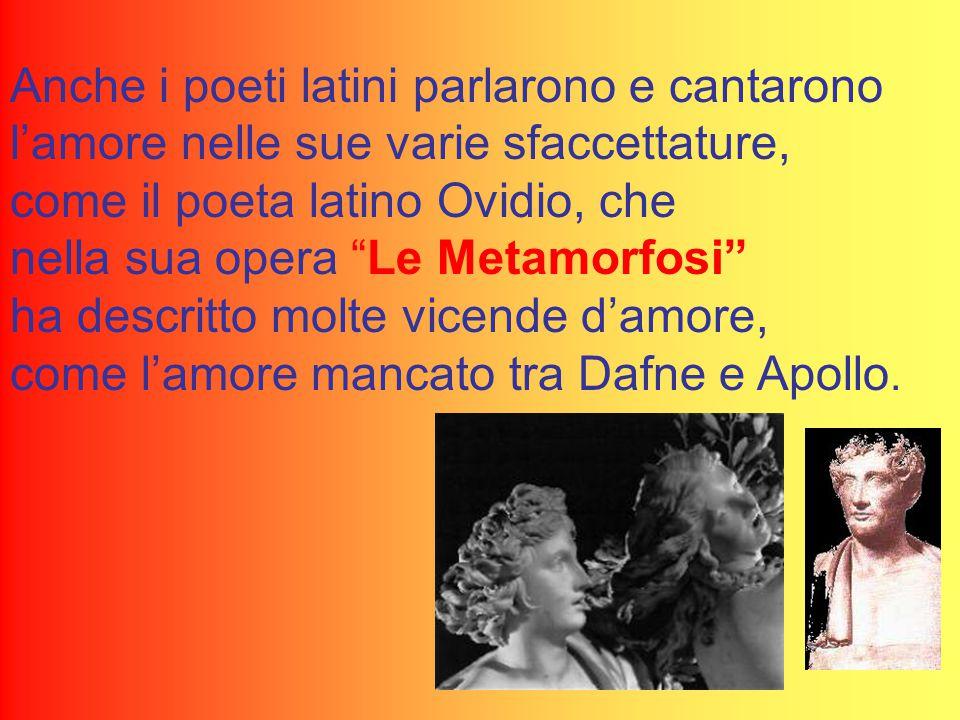 Anche i poeti latini parlarono e cantarono