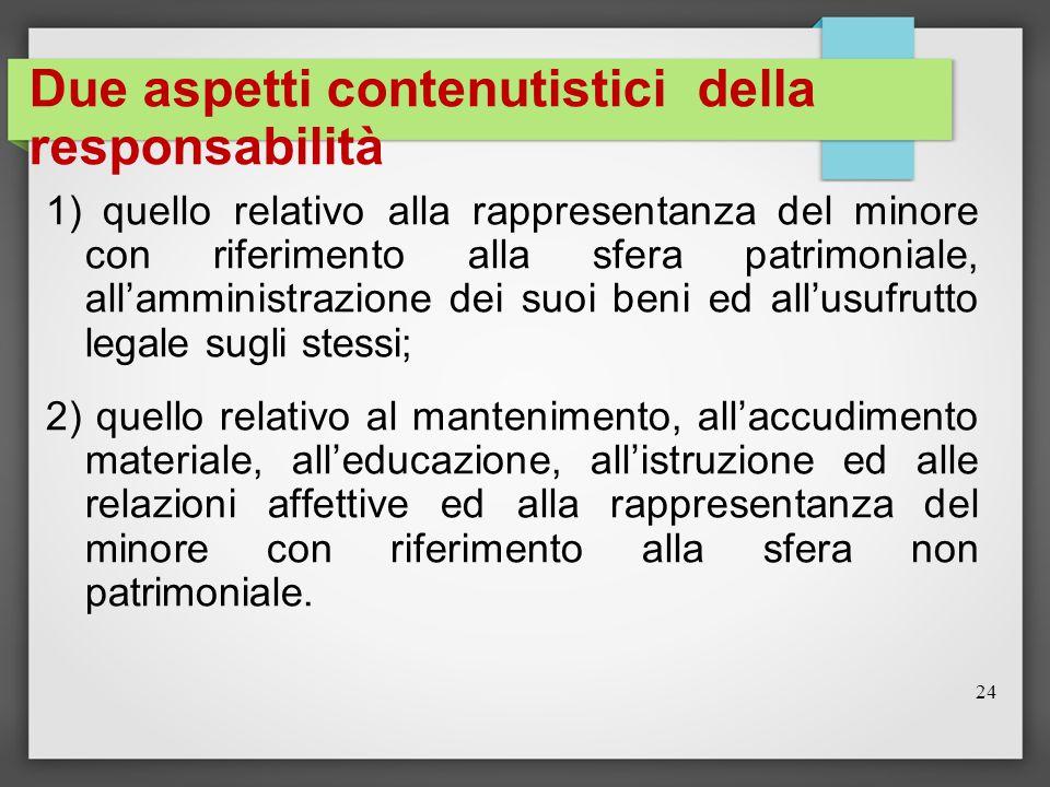 Due aspetti contenutistici della responsabilità