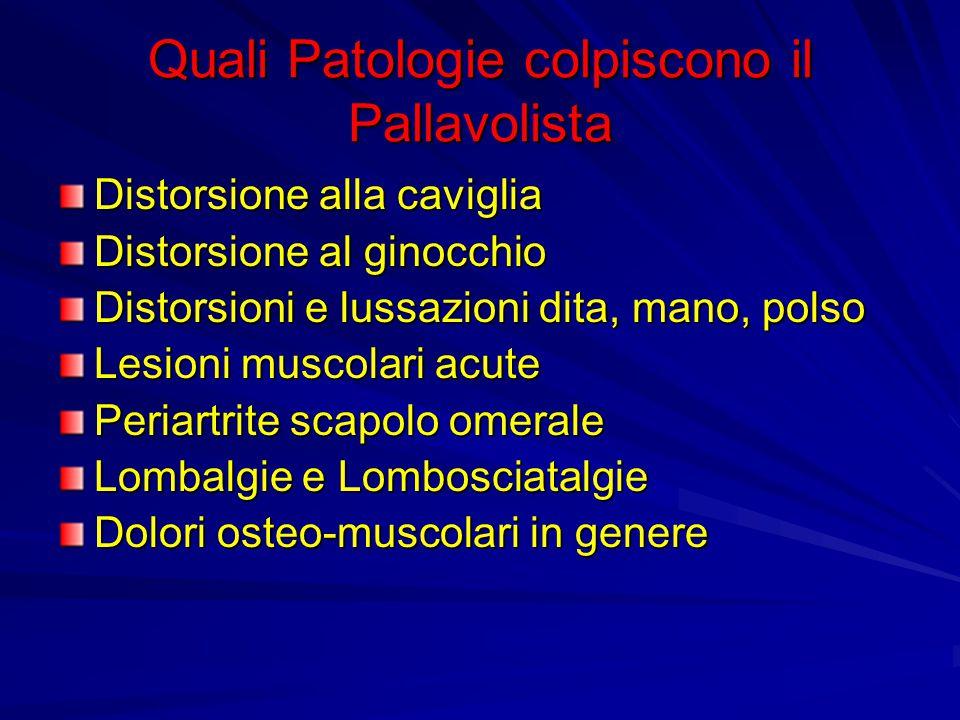 Quali Patologie colpiscono il Pallavolista