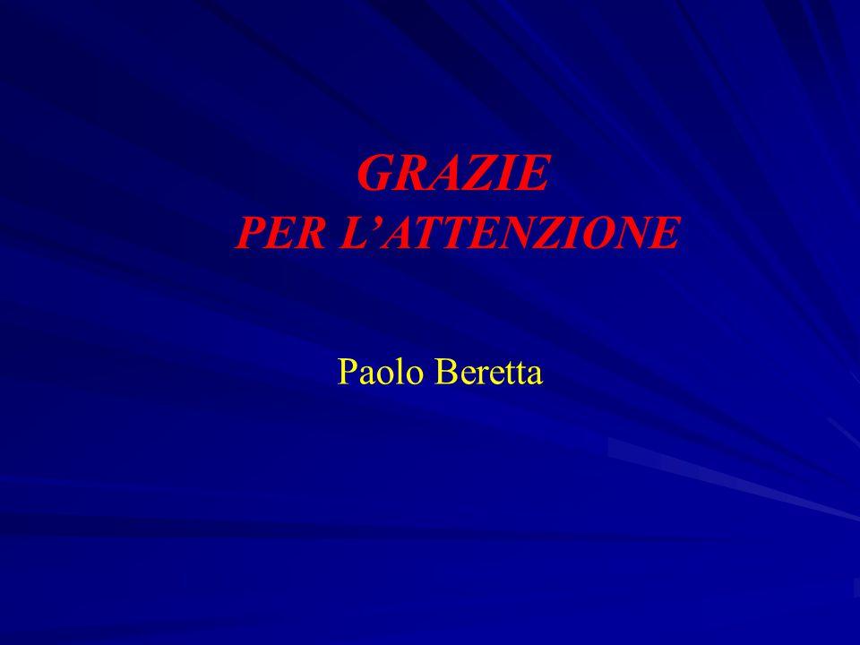 GRAZIE PER L'ATTENZIONE Paolo Beretta