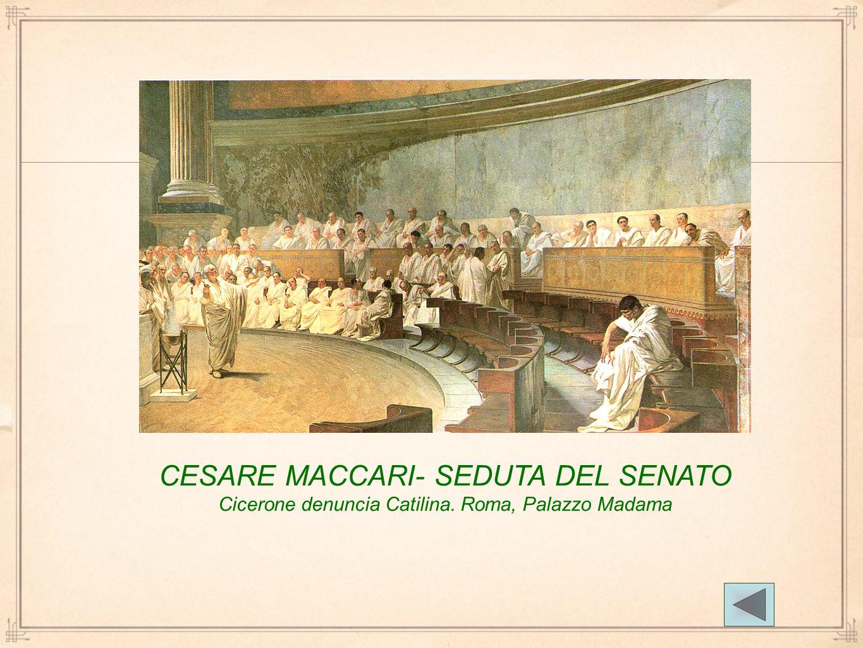 CESARE MACCARI- SEDUTA DEL SENATO