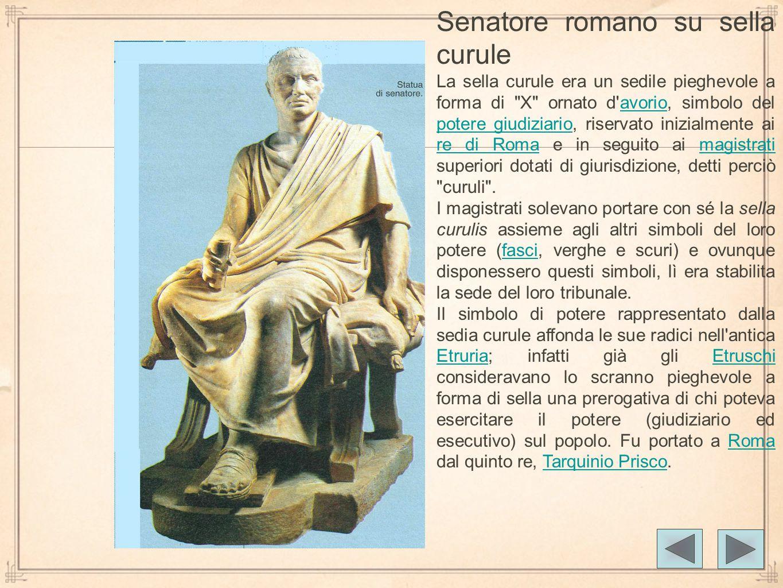 Senatore romano su sella curule
