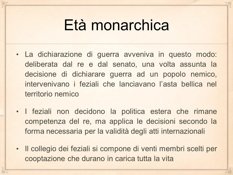 Età monarchica