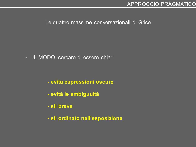 Le quattro massime conversazionali di Grice