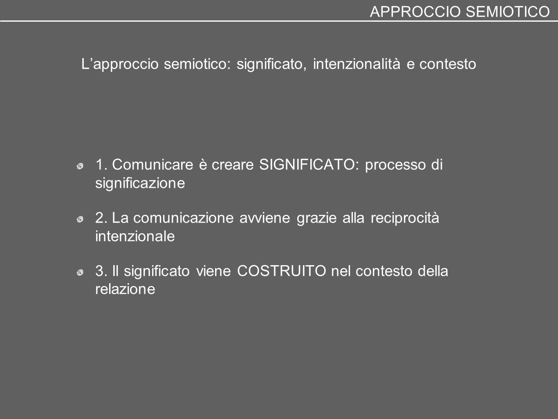 L'approccio semiotico: significato, intenzionalità e contesto