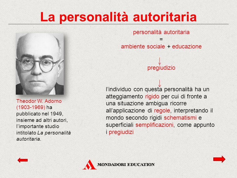 La personalità autoritaria