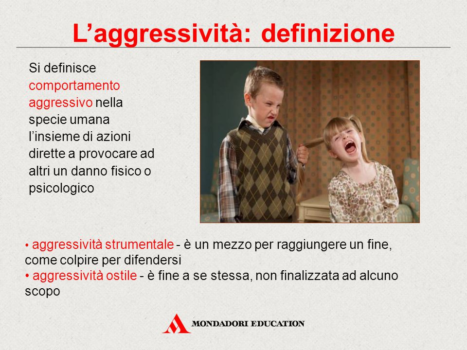 L'aggressività: definizione