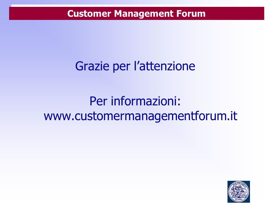 Customer Management Forum
