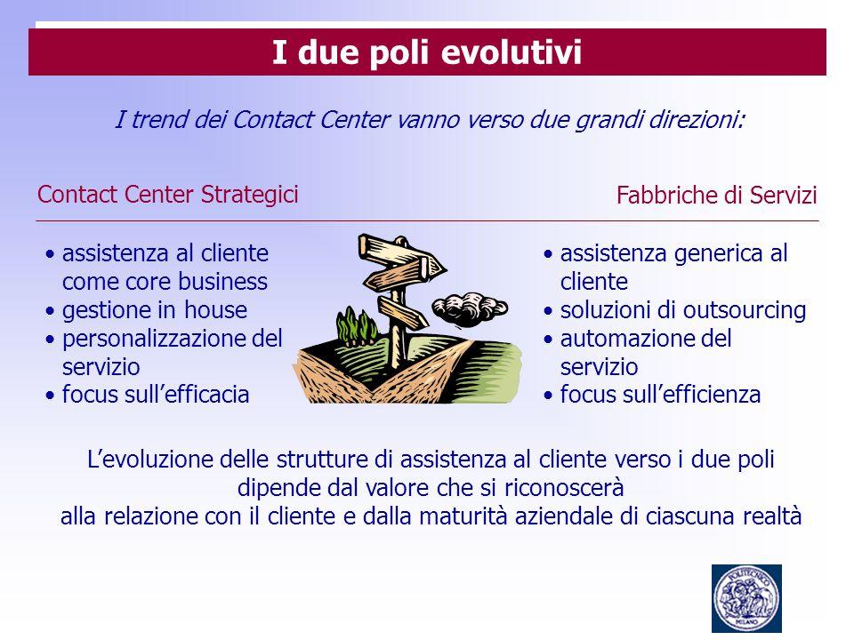 I trend dei Contact Center vanno verso due grandi direzioni: