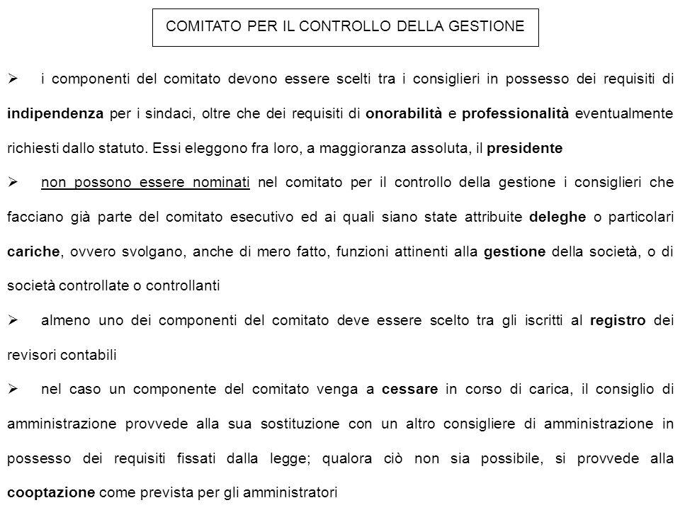 COMITATO PER IL CONTROLLO DELLA GESTIONE